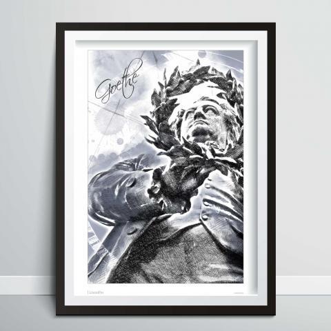 Bild zeigt Kunstdruck und Poster von Goethe